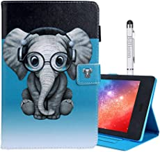 Billionn Smart Case for Amazon Kindle Fire HD 10 (7th Gen/ 5th Gen, 2017/2015 Release) Slim Soft TPU Inner Stand Auto Wake/Sleep, Cool Elephant