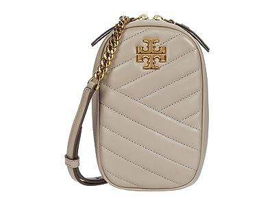 Tory Burch Kira Chevron North/South Crossbody (Gray Heron) Handbags