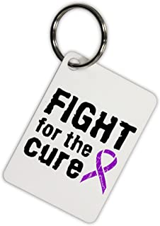 TOOLOUD Fight for The Cure - Purple Ribbon Epilepsy Aluminum Keyring Tag