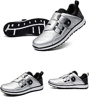 Golfschoenen voor heren,waterdichte Golf Shoes Men met BOA-vetersysteem Outdoor antislip Ademende slijtvaste spijkervrije ...