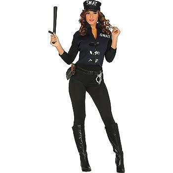 Guirca- Disfraz adulta policía, Talla 36-40 (84928.0): Amazon.es ...