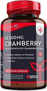 Arándano Rojo Capsulas 12.500 mg - 180 Cápsulas Apto Para Veganos - Suministro para 6 Meses - Extracto