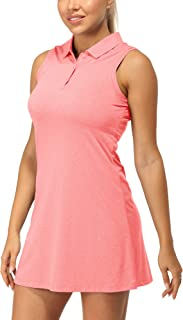 icyzone Tennis Polo Dress for Women, Golf Running Workout Athletic Tank Dresses