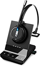 Sennheiser SDW 5016 (507016) Single-Sided Wireless DECT Headset for Desk Phone Softphone/PC& Mobile Phone Connection Dual Microphone Ultra Noise-Canceling, Black