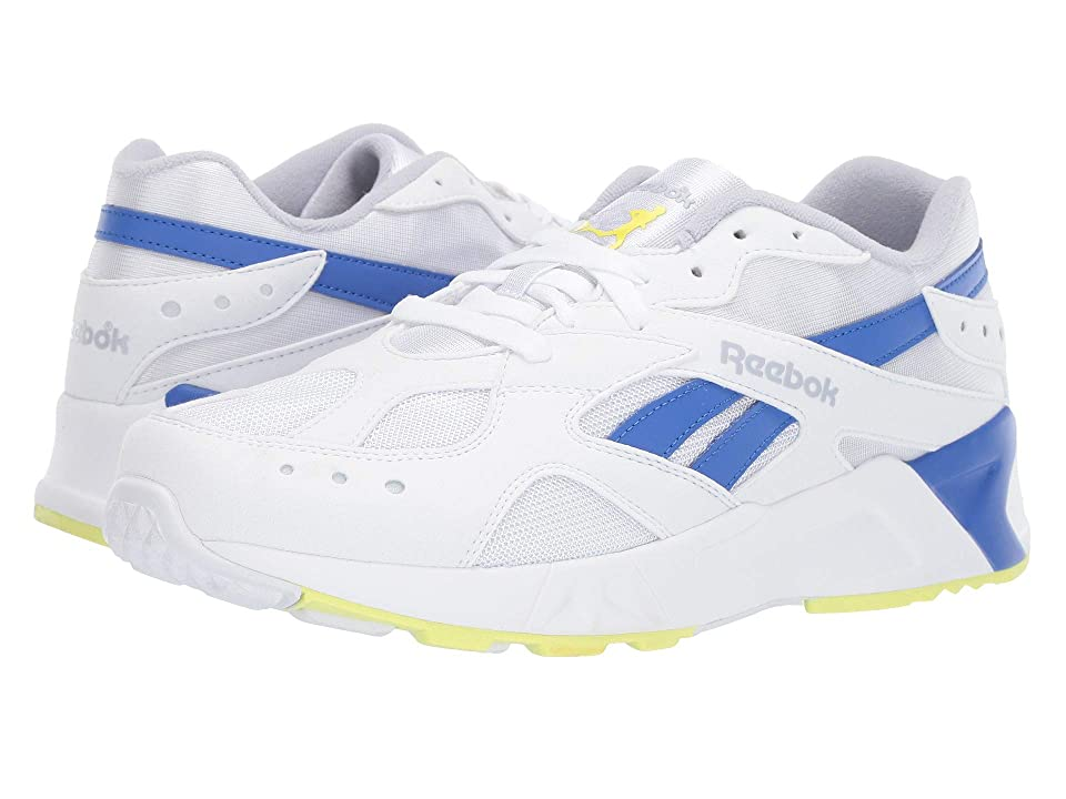 Reebok Lifestyle Aztrek (White/Cold Grey/Crushed Cobalt/Neon Lime) Athletic Shoes