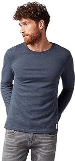 TOM TAILOR Men's Basic Langarmshirt Mit Rundhals Ausschnitt Long Sleeve Top