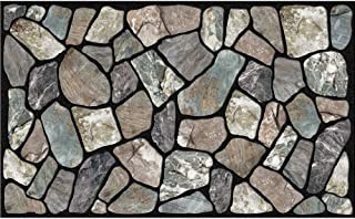 Masterpiece Flagstone Grey Stone Door Mat, 18-Inch by 30-Inch