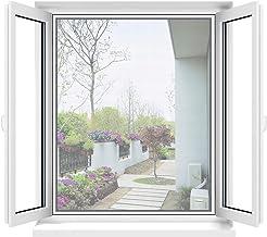 Apalus Moustiquaire Transparente Universelle pour Fenêtre, Maille Lavable, Moustiquaire Ajustable, Bricolage, Protection Contre les Moustiques et les Insectes (Taille Max 130x150CM, Blanc)