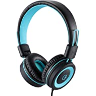 Kids Headphones - noot products K11 Foldable Stereo Tangle-Free 3.5mm Jack Wired Cord On-Ear...
