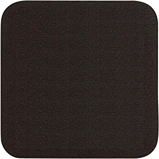 Thirsty Rhino Jeli, Soft Rubber & Jersey Neoprene Coaster, Black, Set of 12 (Square)