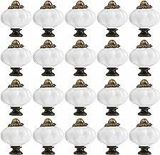 Meubelgrepen 20 stks Pompoen Keramische Deur Knoppen Kast Lade Kast Keuken Trek Handvat Lade Pull Handvat Meubelknoppen