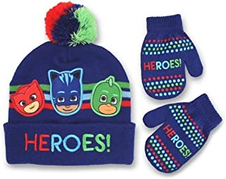 "Toddler Boys' PJ Masks ""HEROS!"" Winter Hat and Mitten Set"