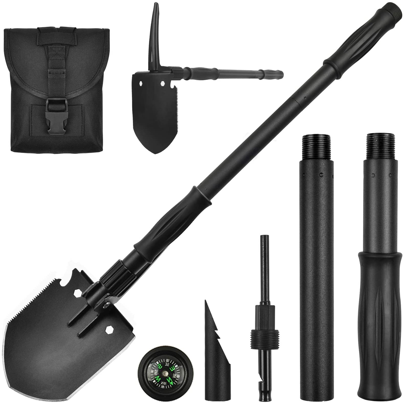 FM/_ MILITARY FOLDING SHOVEL SURVIVAL SPADE CAMPING OUTDOOR MULTIFUNCTIONAL TOOL