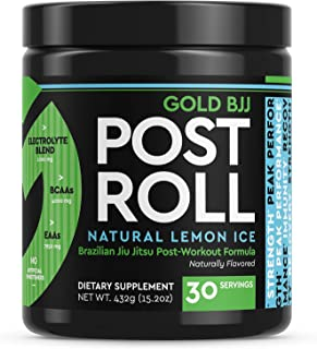 Gold BJJ PostRoll - Jiu Jitsu Post Workout Supplement with EAA & BCAA Essential Amino Acids - Martial Arts Specific Post-W...
