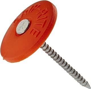 Grip Rite 112PRCAP1 1 lb Round Plastic Cap Grip-Cap Nail, 1-1/2