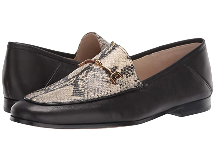 Sam Edelman  Loraine Loafer (Beach Multi/Black Pacific Snake/Modena Calf Leather) Womens Dress Sandals