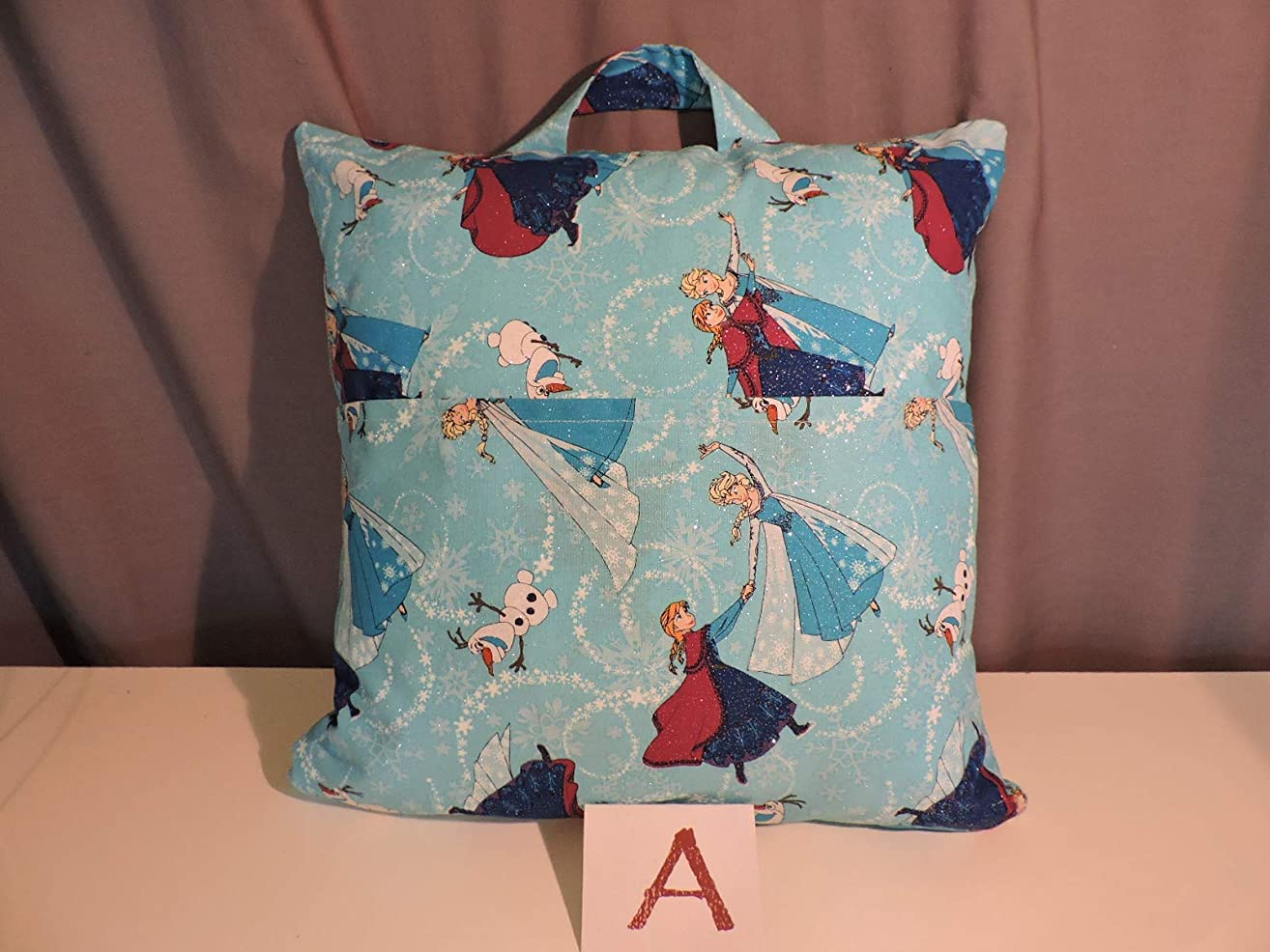Reader Pillow with Elsa, Anna, Olaf from Frozen, Child's Pillow, Pocket Pillow - 16