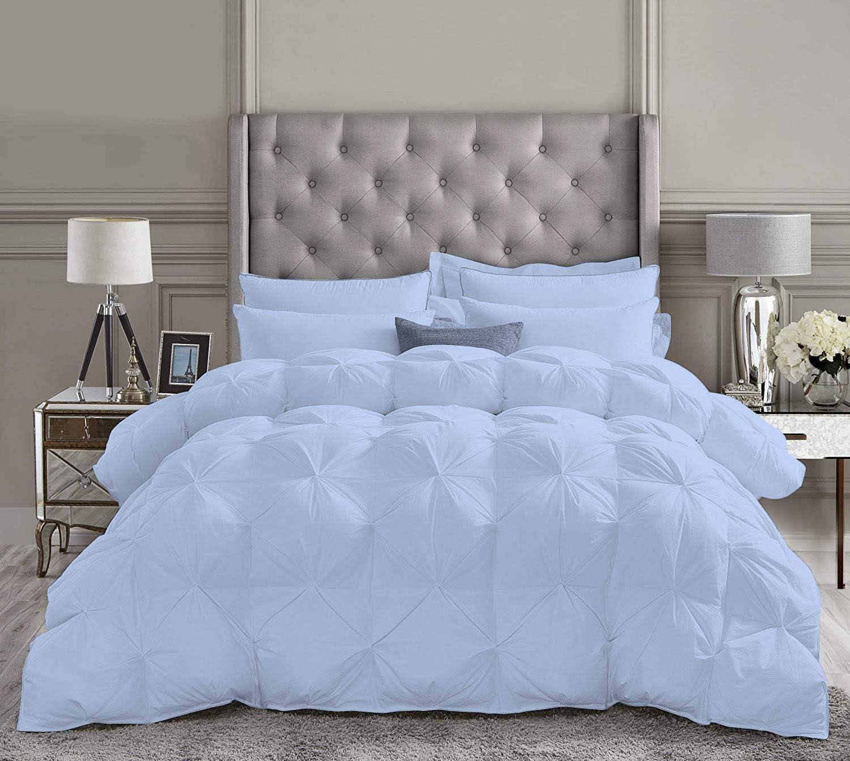 Wedlocks Bedding 5 Piece Pinch Cheap sale Pleated 800 Premium Set Large discharge sale Comforter