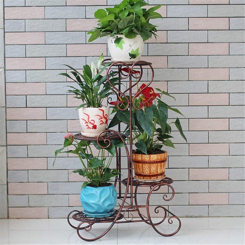 Gifts & Decor Plant Stand Shelf Multi-Storey Flower Racks Iron Art Balcony Living Room Floor Pot Rack, Multifunctional Flower Display Stands Wood Pot Shelf Storage Rack Outdoor Indoor Pots Holder Than