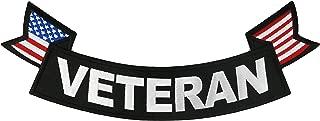 Veteran - Bottom Rocker Large Embroidered Jacket Patch 11
