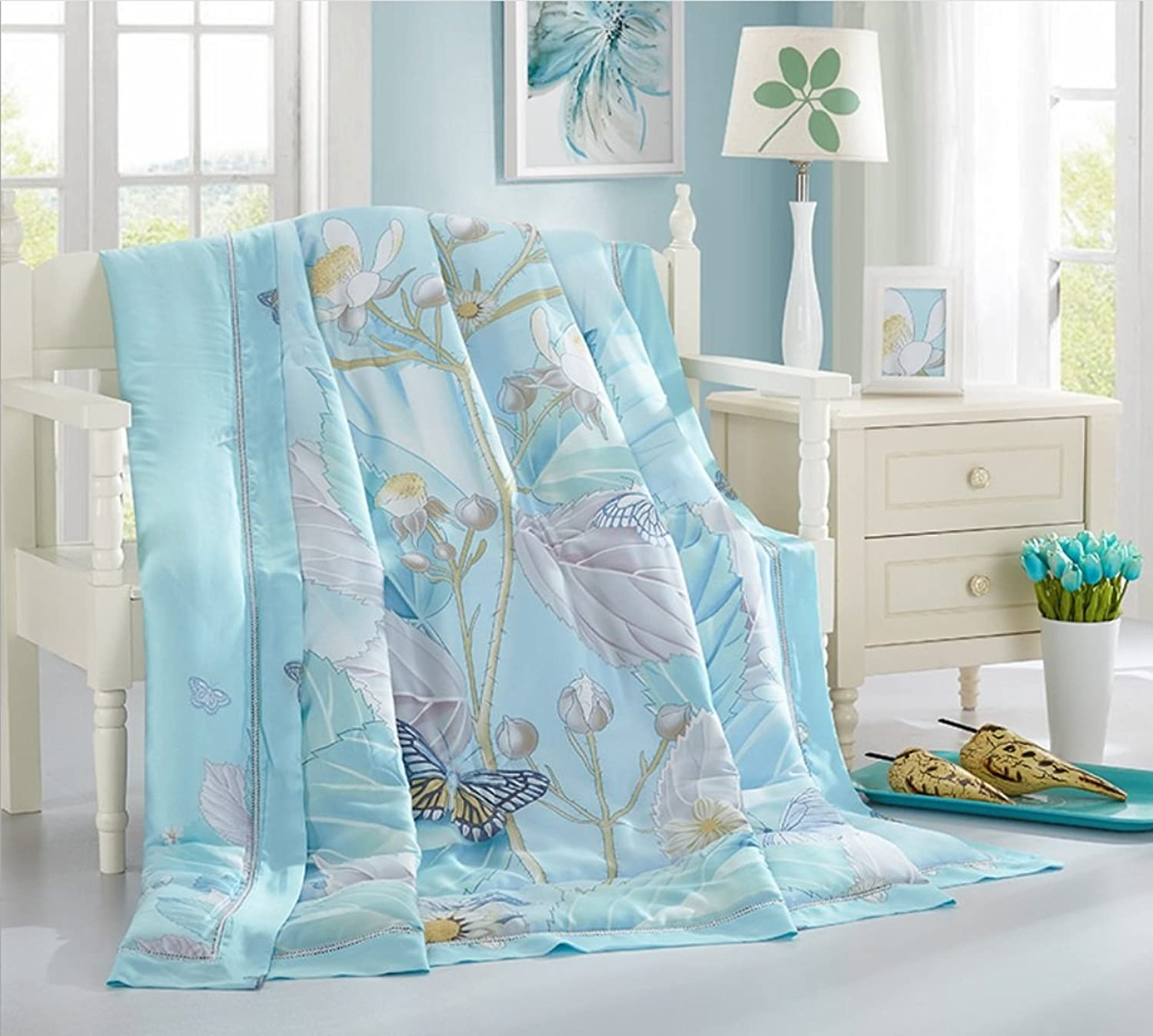 Home Textiles New Tencel Summer is Cool in The Summer The Summer Quilt ZXCV (color   12, Size   240  220cm)