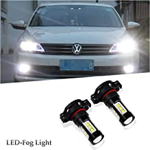 5202 5201 PS19W Fog Light Bulbs LED 80W Extremely Bright 6000K 16 SMD White Xenon 5202 Led Bulb Lamps (Pack of 2)