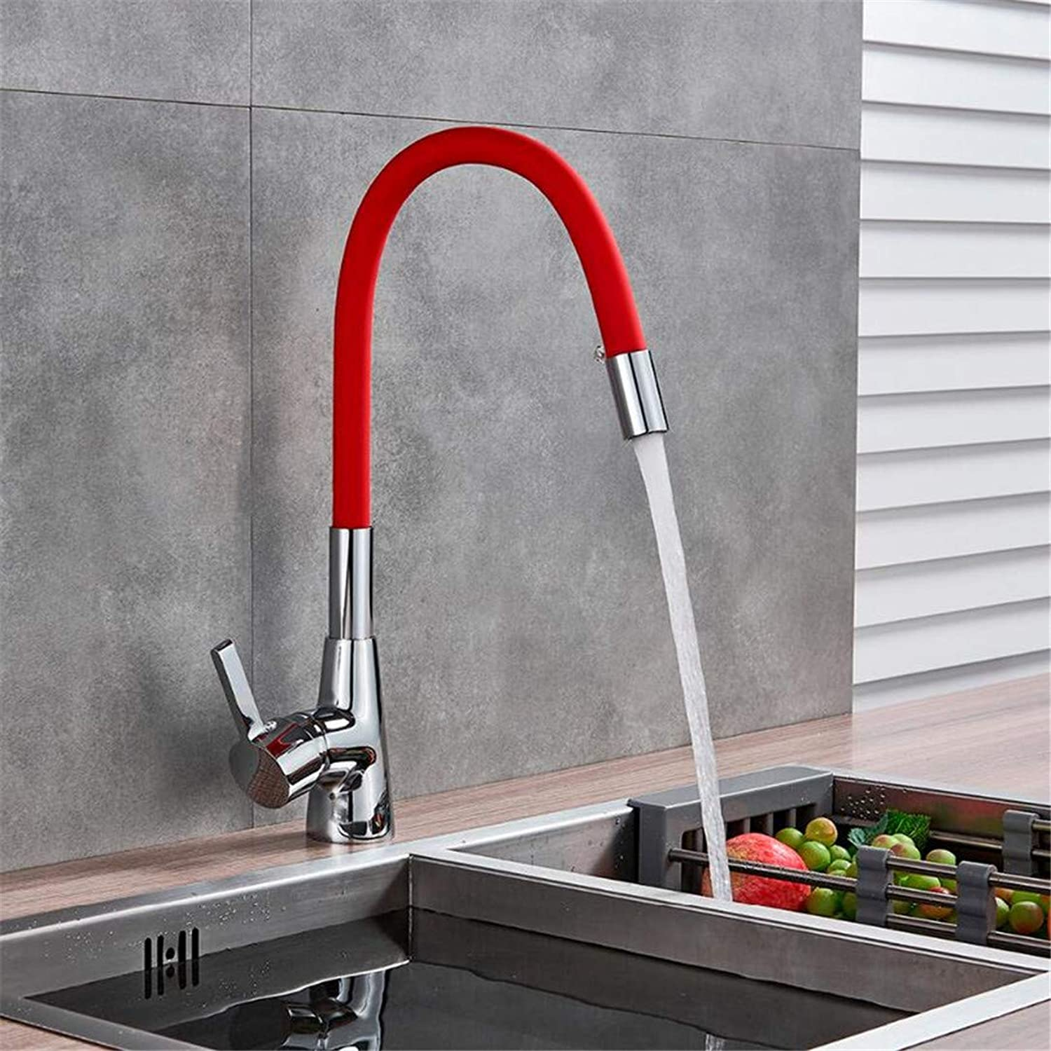 Faucet Washbasin Mixer Deck Mounted Kitchen Sink Faucet Single Hole Cold & Hot Sink Mixer Tap colorful Flexiable Hose Kitchen Sink Tap