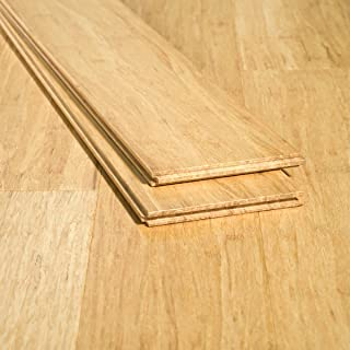 Ambient Bamboo - Bamboo Flooring Sample, Color: Natural Wide Plank, Solid Strand Tongue and Groove