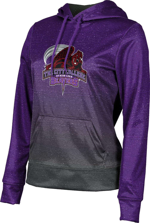 City College of New York Girls' Pullover Hoodie, School Spirit Sweatshirt (Ombre)