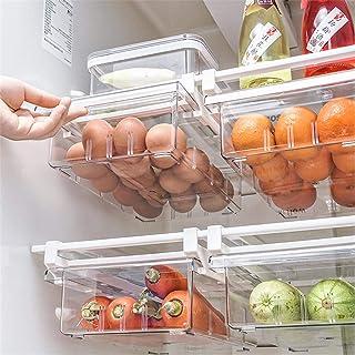 pegtopone Organisateur Boîte De Réfrigérateur, Transparent Organisateur De Tiroir Coulissant Boite Rangement Frigo Réfrigé...