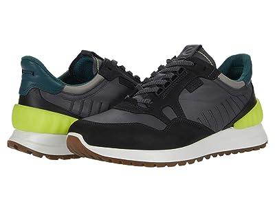 ECCO Astir Athletic Sneaker (Black/Magnet/Wild Dove/Baygreen) Men