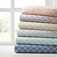 Madison Park MP20-2366 Fretwork Cotton Sheet Set Cal King Tan, California
