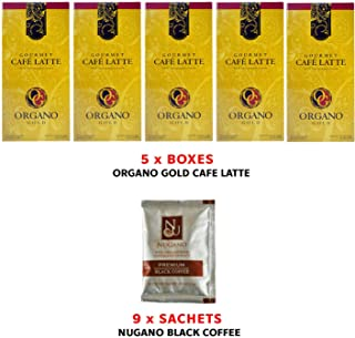 Organic Coffee Organo Gold Gourmet Cafe Latte 5 Boxes (20 sachets per Box) only AUD1.32 per Sachet