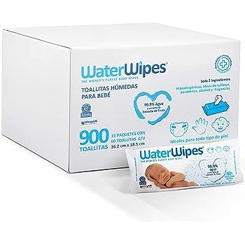 WaterWipes Toallitas Húmedas Para Bebé, color Blanco, 900 count, pack of/paquete de
