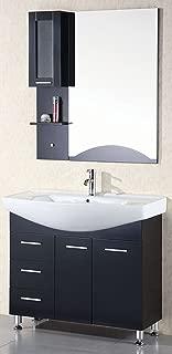Design Element Sierra Single Drop-In Sink Vanity Set, 40-Inch