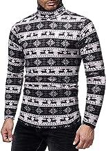 iZHH Christmas Sweater Men Knitting Jumper Crew Neck Long Sleeve Tops Blouse Tee