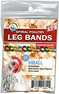Cackle Hatchery Spiral Poultry Leg Bands - 25 (Small)