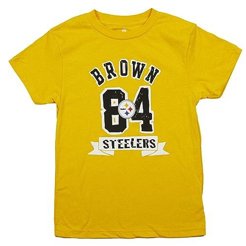 bee87f943 Outerstuff Pittsburgh Steelers Antonio Brown  84 NFL Big Boys Short Sleeve  T-Shirt
