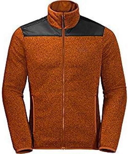 Jack Wolfskin Mens Elk Lodge Full Zip Windproof Knitted Fleece Jacket