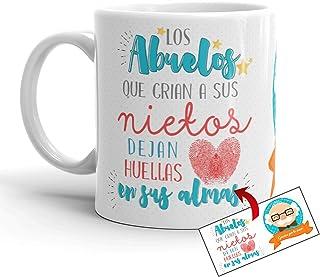 Kembilove Taza Abuelo – Tazas de Desayuno Graciosa Los Abuelos crían a Sus Nietos – Taza Desayuno Original el Día del Padr...