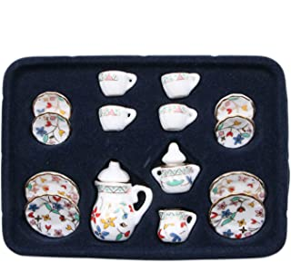 Toys & Hobbies United Odoria 1:12 Miniature 4pcs Silver Rim White Flower Bowl Dollhouse Kitchen Accessories