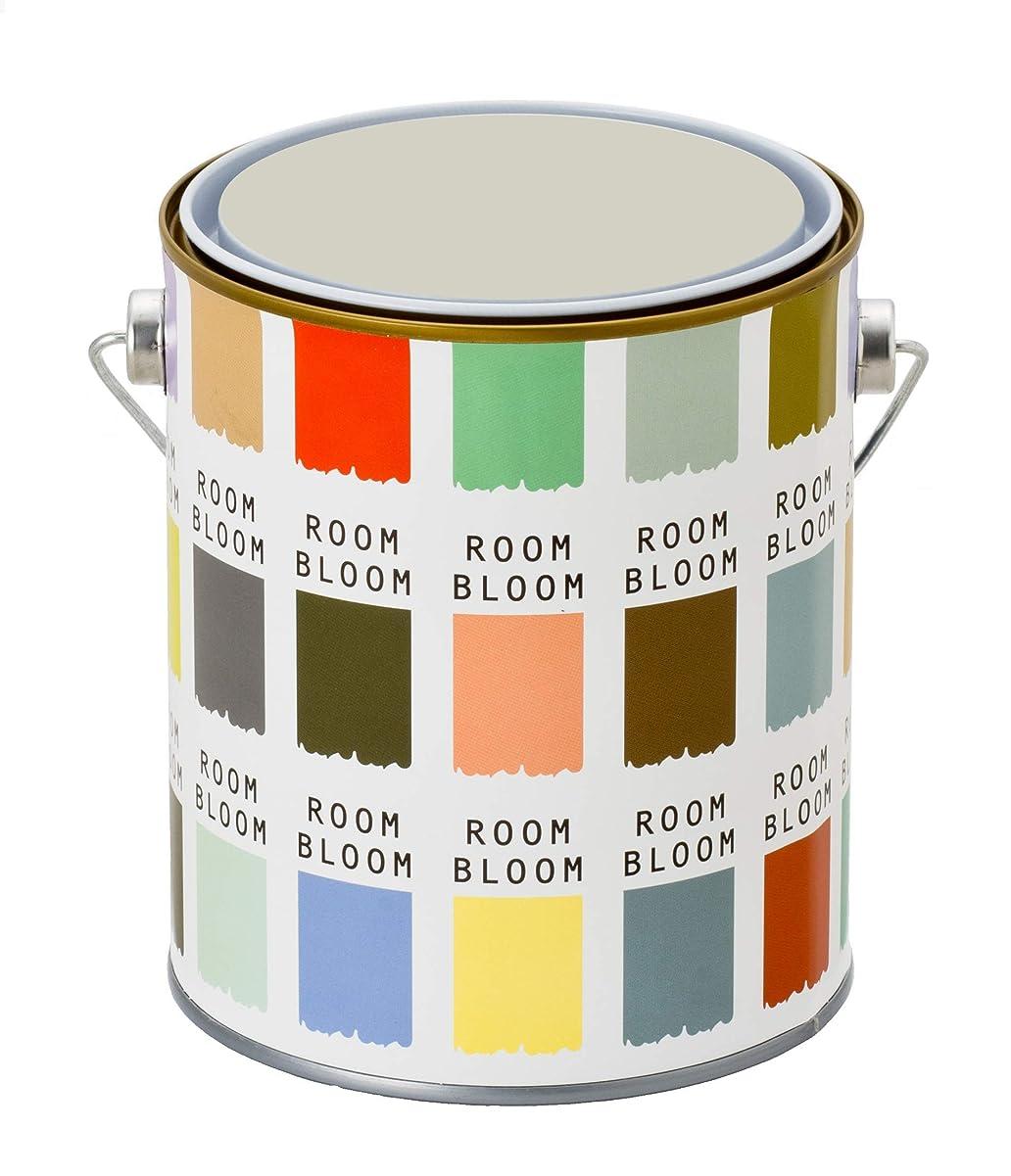 慣らす頂点ダーリン水性ペンキ(室内塗料) ROOMBLOOMMatte 1kg カラー:reflection(グレー 灰色 黄色がかった薄いグレー)