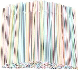 200/600/1000/2000 Pcs Flexibles réutilisables en Colorées, Matériel de Sécurité, Pour Boire Fêtes Enfants Adulte (200 PC)