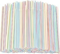 100/500Pcs Plastic Rietjes Flexibele Drinken Rietjes Bend Wegwerp Rietjes Kleurrijk Wegwerpdrinkrietjes Drinkbenodigdheden...