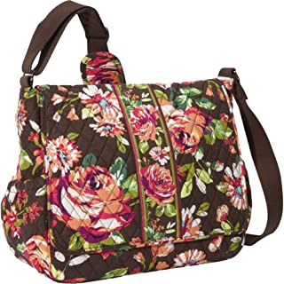 Vera Bradley Messenger Baby Bag (English Rose)