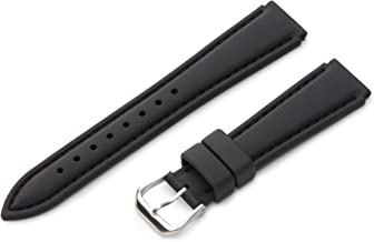 Hadley-Roma 18mm 'Men's' Silicone Watch Strap, Color:Black (Model: MS3346RA 180)