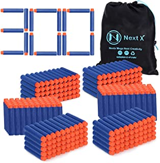 NextX Darts Refill Bullets for Nerf N-Strike Elite 300 pack , Toys for Boys Party Favors with portable Storage Bag