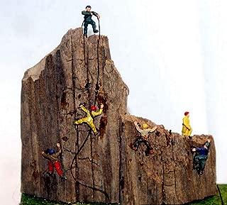 Langley Models 6 Rock Climbers N Scale Metal Model People Figures PAINTED A104p