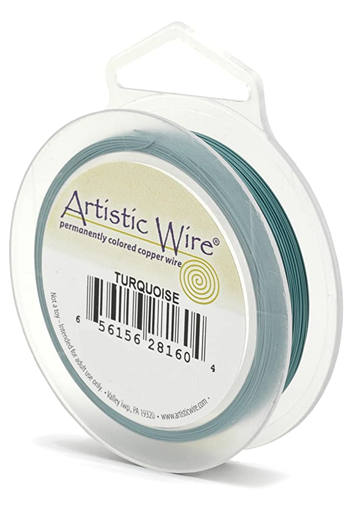 Artistic Wire AWS-24-16-20YD 24 Gauge Wire, Turquoise, 20-Yard