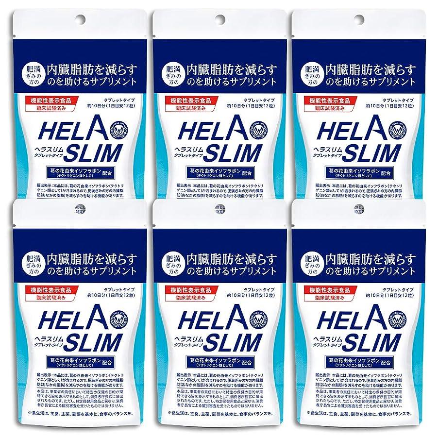 すすり泣きスプレー放棄された【6袋セット】HELASLIM(120粒入り)アルミパック